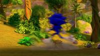 SB S1E25 Sonic run leaves