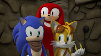 Sonic Tails Knuckles looking