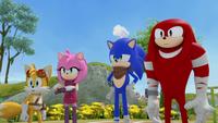 Team Sonic stare