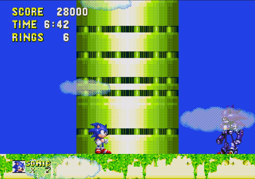 Mecha Sonic (Sky Sanctuary Zone)