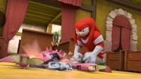 SB S1E08 Knuckles smash Crab Bot