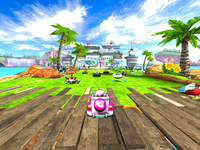Sonic & SEGA All-Stars Racing Ocean Ruin Start