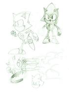 Metal Sonic CD concepts 5