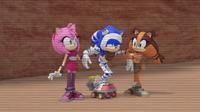 Injured Sonic on rocket skates