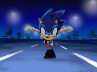 Sonicrunningtoroadblock