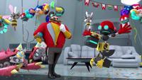 SB S1E10 Eggman Cubot Orbot party