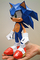 Sonic cafe papercraft sonic