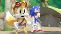 SB S1E10 Tails Sonic admire
