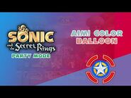 Aim! Color Balloon - Sonic and the Secret Rings (Party Mode)
