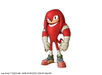 Knuckles concept art Sonic Boom game