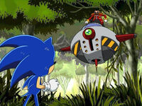 Ep18 Eggman pointing at Sonic