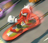 Sonic Riders 3D Knuckles