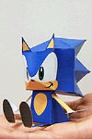 Sonic cafe papercraft sonic mini