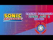 Casino Paradise Zone Act 2 (Sonic) - Sonic Advance
