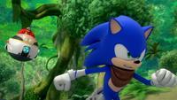 S1E22 Eggman chase Sonic