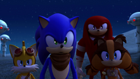 SB S1E06 Sonic Tails Knuckles and Sticks