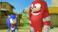 Sonic and Knuckles talking