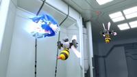 SB S1E08 Sonic spin dash Bee Bots