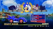 Sonic and Sega All Stars Racing character select 01