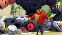 SB S1E40 Eggman Giant Robot destroyed