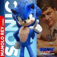Sonic - O Filme - Manolo Rey como Sonic