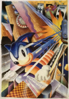 Sonic the Hedgehog Boom Spinball artwork