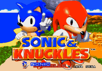 Sonic & Knuckles title screen 1