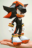 Sonic cafe shadow papercraft