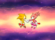 Sonic and Blaze We are friends