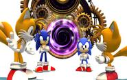 Classic Sonic i Tails i Modern Sonic i Tails