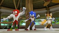 SB S1E39 Sonic Tails Knuckles dance practice