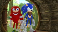 SB S1E39 Knuckles Sonic Tails at Sticks Burrow