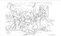 Sonic generations 3ds art Vanilla Cream Gemerl