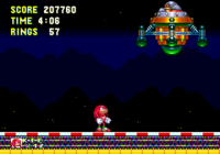Knuckles Against the Graviton Mobile