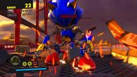 Metal Sonic Replica Defeated