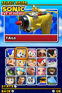 Sonic and Sega All Stars Racing DS character select 02
