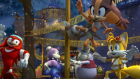 SB S1E38 Knuckles Sticks Tails villagers countdown