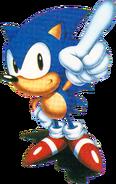 Sonic Sonic Triple Trouble art