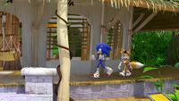 SB S1E08 Sonic Tails Sonic's Shack porch