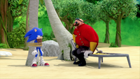 SB S1E19 Sonic Eggman beach 2