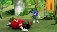 SB S1E25 Knuckles Sonic lost