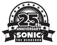 Sonic 25th Anniversary logo bw 2