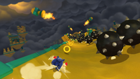 Spiked balls and flamethrowers