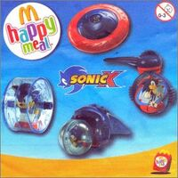 McDonalds Sonic X Spinning Tops