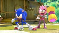 S1E40 Sonic Amy pose