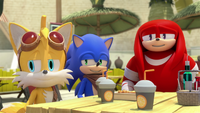 SB S1E30 Tails Sonic Knuckles amused