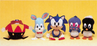 SEGASONIC UFO plushies 1991