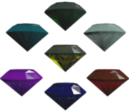Sonic Unleashed PS3 Model Chaos Emeralds
