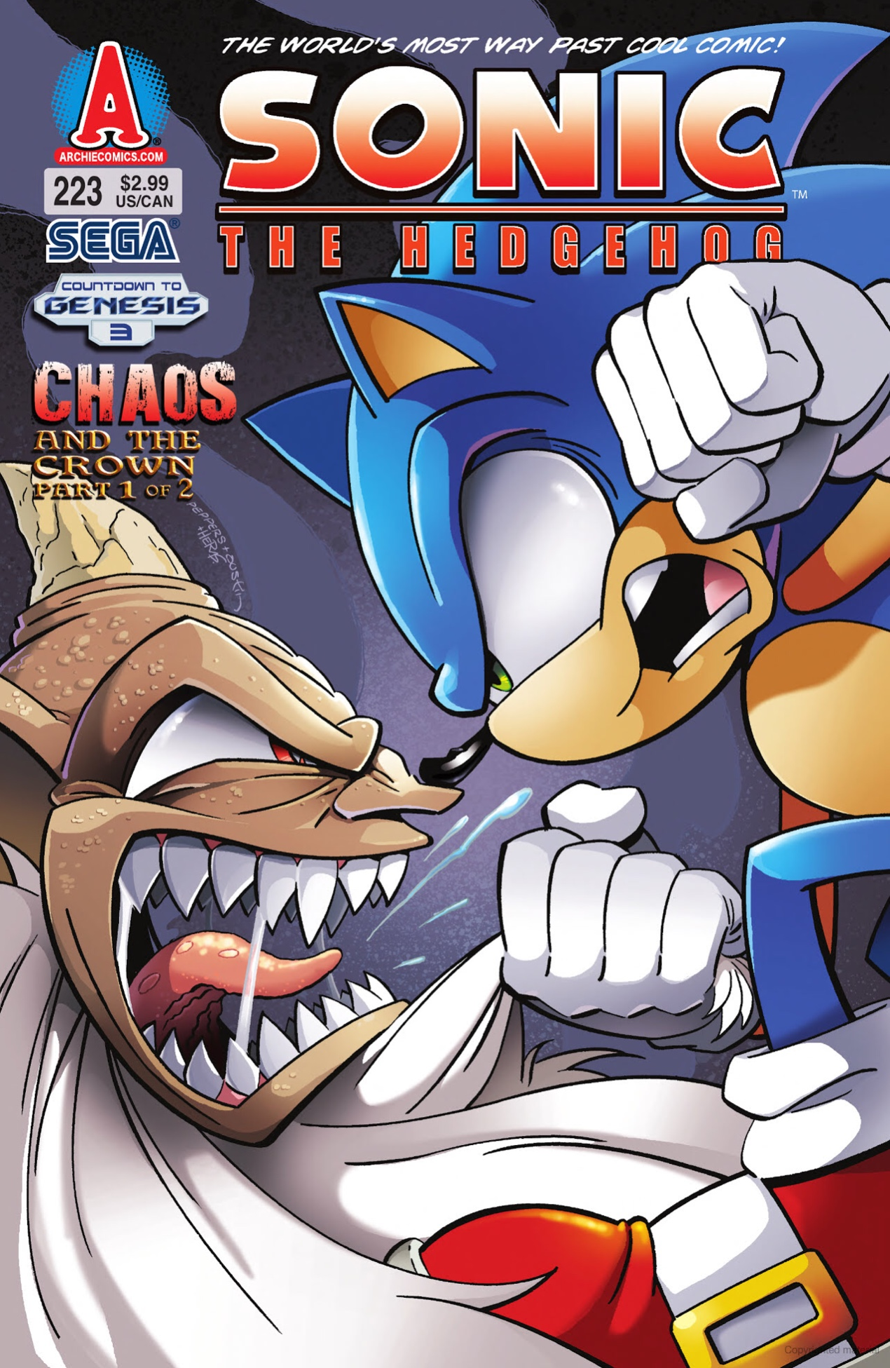 Archie Sonic the Hedgehog Issue 223
