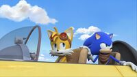 S1E11 Tails Sonic plane